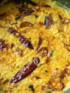 Dhal curry made Sri Lankan style with tempering.
