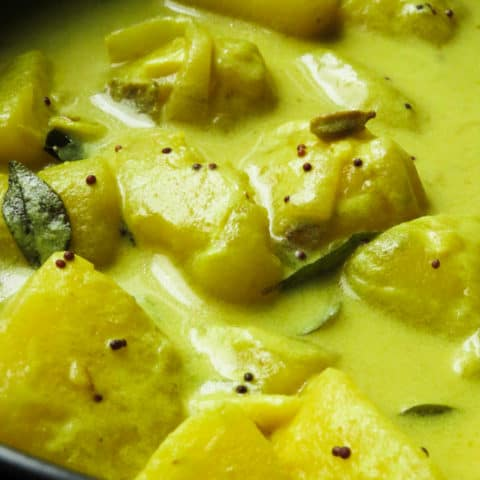 Sri Lankan potato curry.