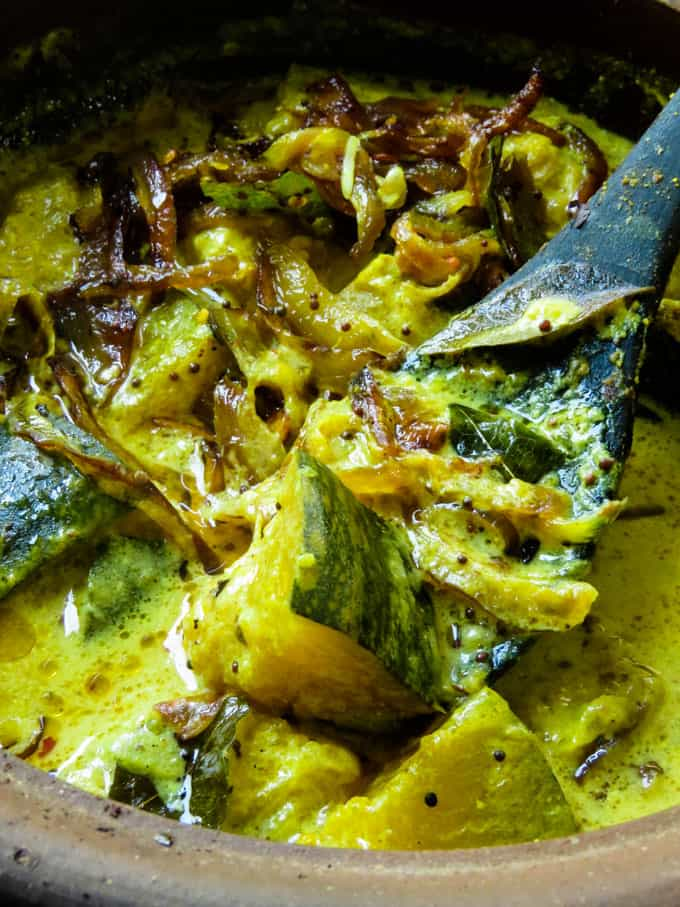Sri Lankan creamy pumpkin curry.