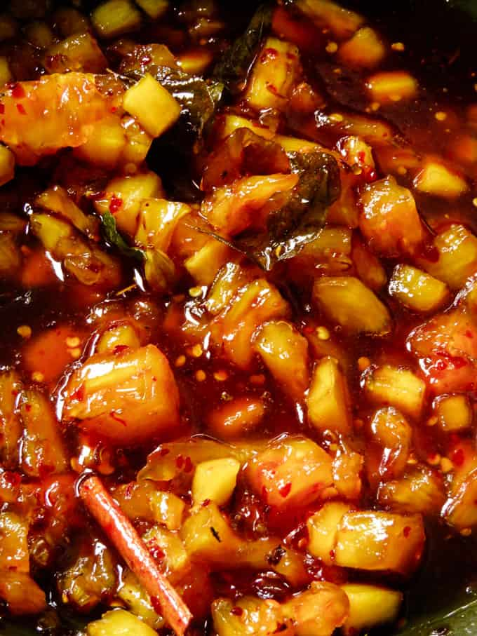 pineapple chutney.