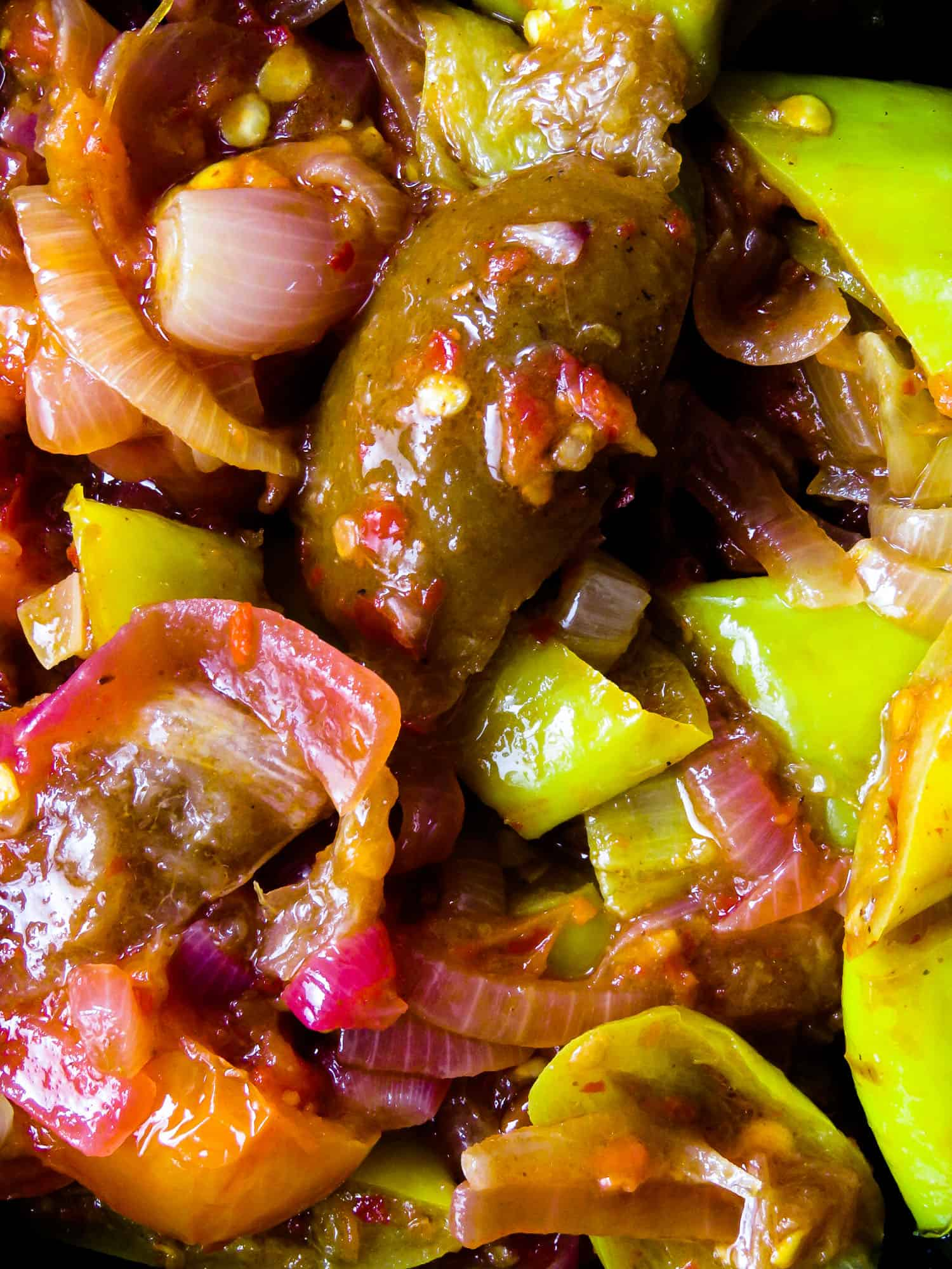 Capsicum and lime pickle(Sri Lankan), a spicy, sour side-dish for your meals. a plate of rice and curry tastes better with this rice puller. gluten-free, vegan, vegetarian, low-carb-islandsmile.org