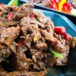 A crispy pepper beef curry with blended spices to give the right amoount of spice