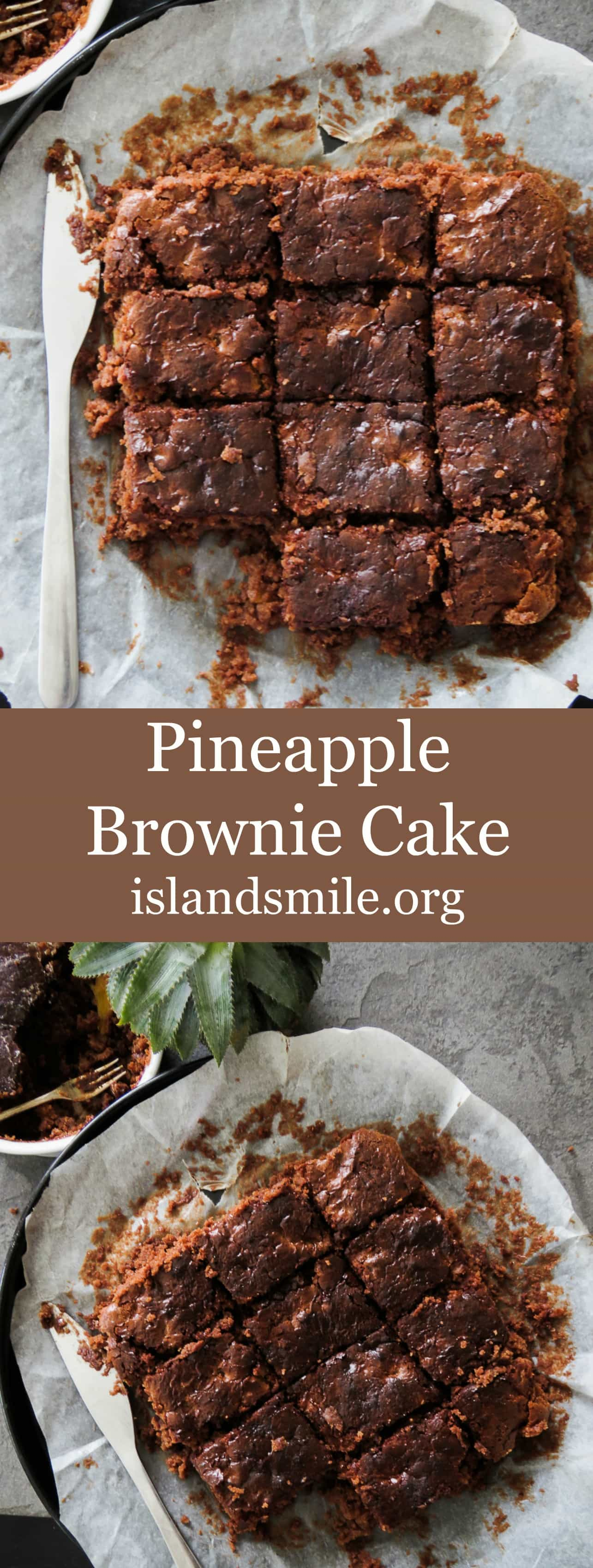 Pineapple Brownie cake