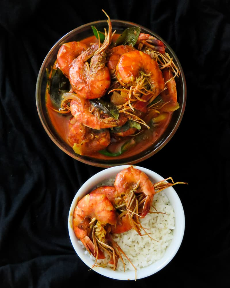 Srilankan prawn curry cooked in coconutmilk3-