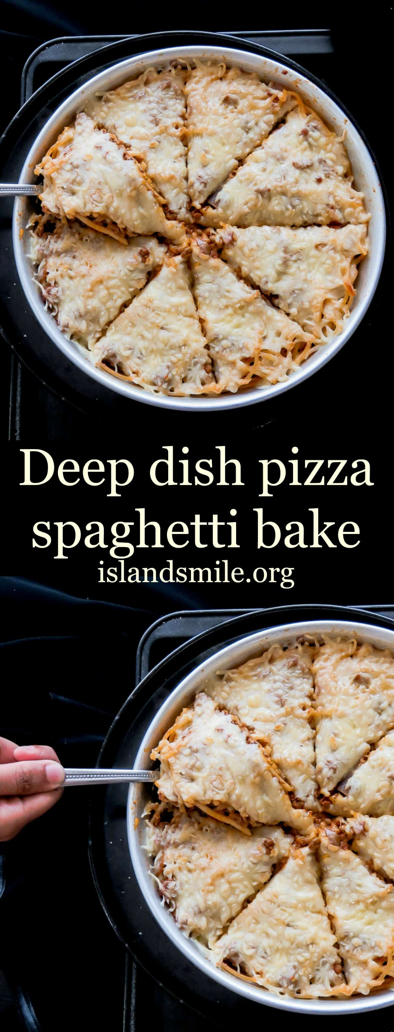 deep dish pizza bake pin