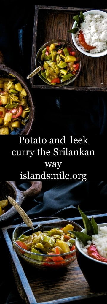 POTATO AND LEEKS CURRY,A vegetarian and vegan dish which is also Srilankan-4888