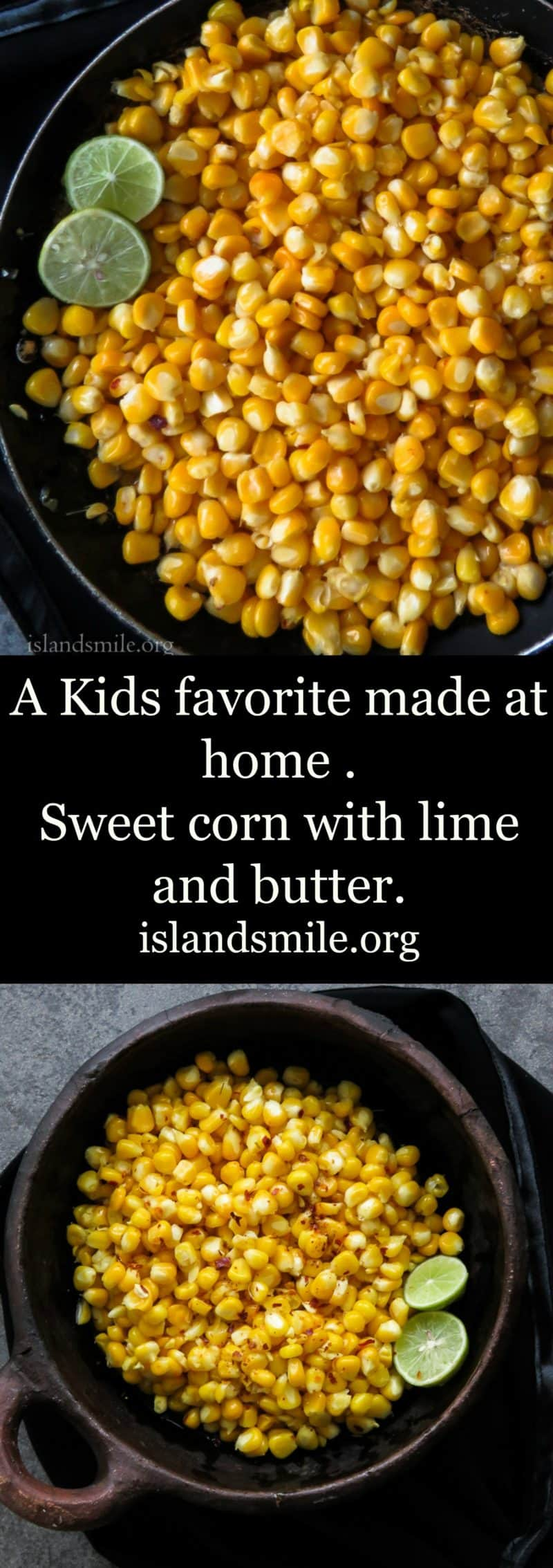 Sweet corn with lime and butter image