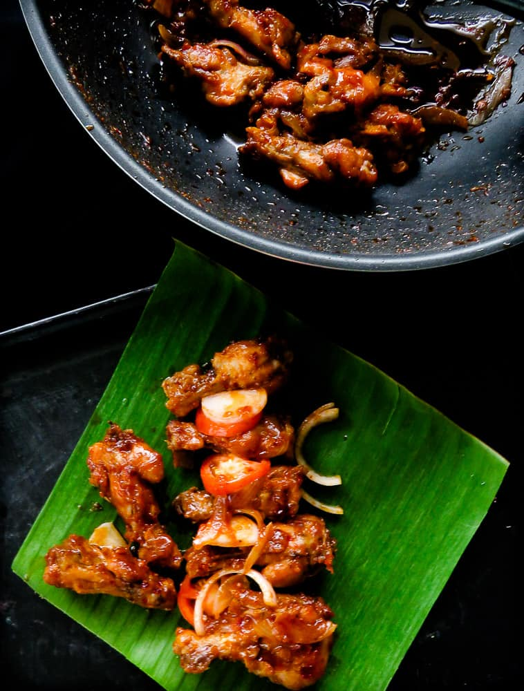 pan fried spicy chicken wings(devilled) image