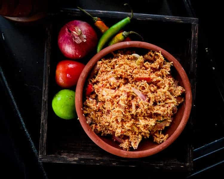 how to make a Sri lankan Coconut sambol images
