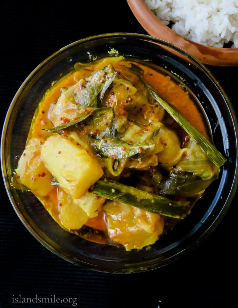 Vegetarian sweet potato curry(srilankan, bathala curry). #srilankan #sweetpotato #curry #vegan #vegetarian #easy