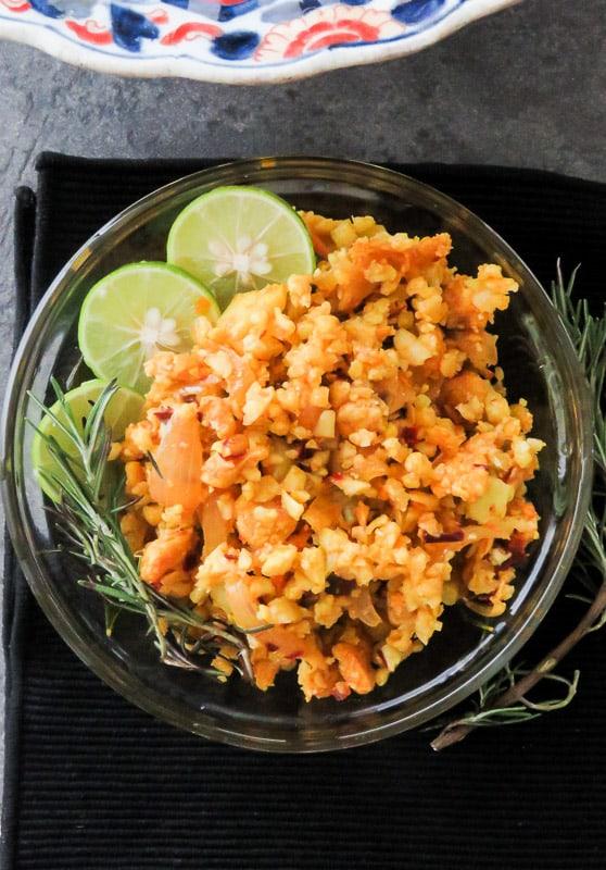 30-minute-shredded-chicken-with-curried-cauliflower-stir-fry-