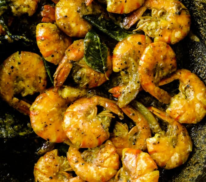 pepper prawn curry.