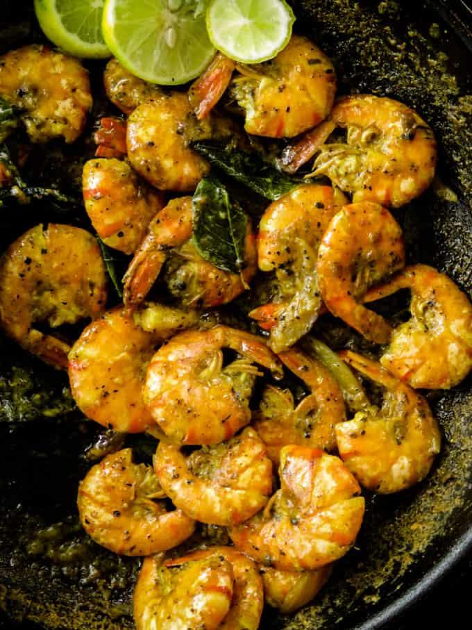 pepper prawn curry.