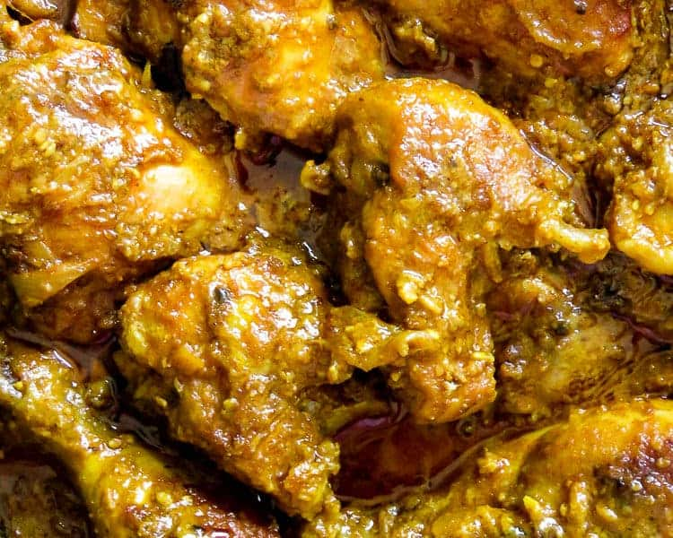 Hyderabadi chicken with a sesame-peanut gravy base. this Indian curry makes a perfect one-pot meal to share with friends and loved ones.