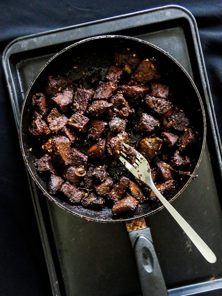 Pan-fried sizzling Black beef-islandsmile.org