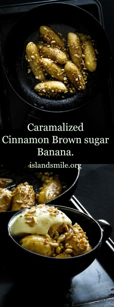 10 minute-Caramalized brown sugar-Cinnamon Banana-islandsmile.org