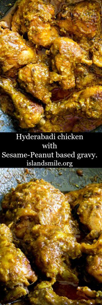 hyderabadi chicken with Sesame- Peanut based gravy-islandsmile.org