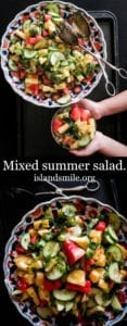Easy summer mixed salad-islandsmile.org