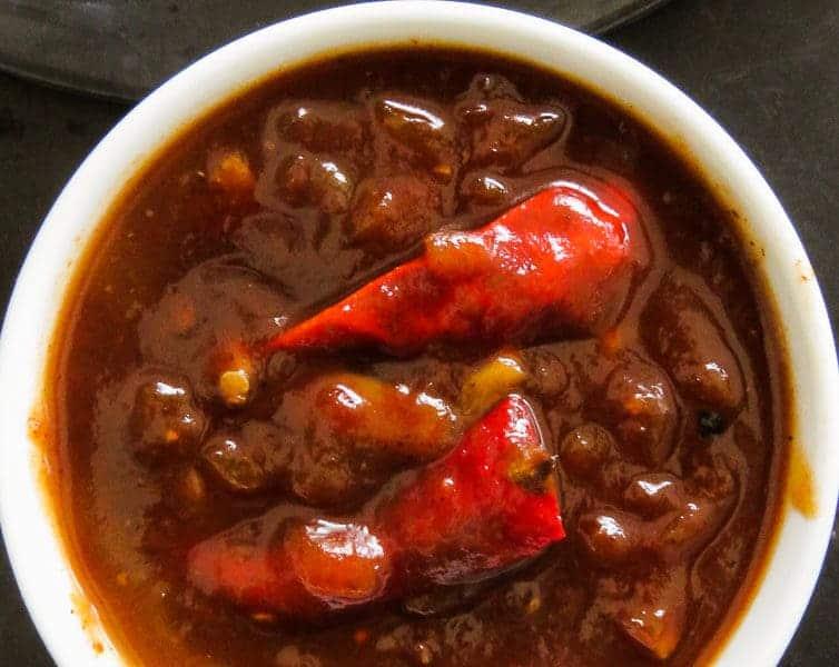 Tamarind red chillie Barbecue sauce-islandsmile.org