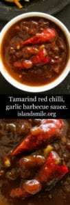 Tamarind red chilli barbecue sauce -islandsmile.org