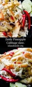 Zesty Pineapple-cabbage slaw-islandsmile.org