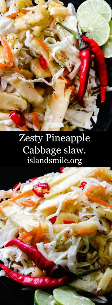 spicy Pineapple coleslaw.