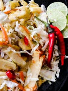 tangy pineapple cabbage spicy coleslaw-islandsmile.or