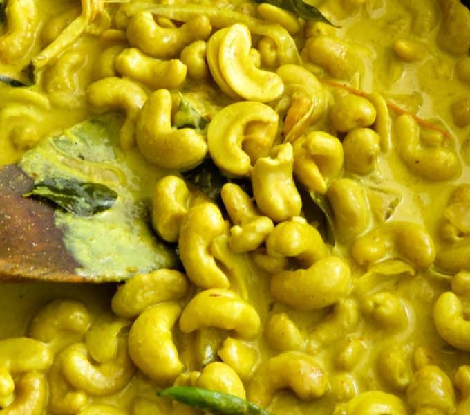 Sri Lankan cashew curry.