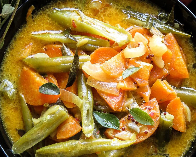 Creamy Sri Lankan Carrot and bean curry -islandsmile.org