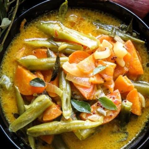Creamy Sri Lankan Carrot and bean curry -islandsmile.org