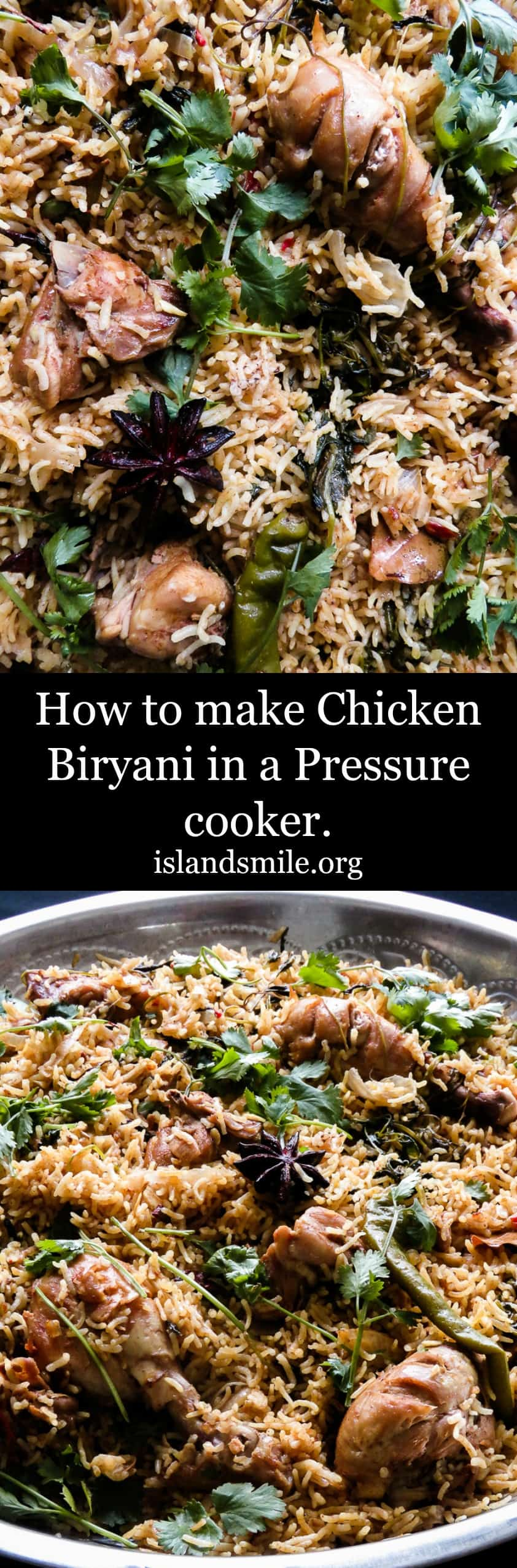 How to make Chicken Biryani in a Pressure cooker. Use your Pressure cooker to make this gorgeous, delectable one-pot Chicken Biryani for any festive occasion including Ramadan.