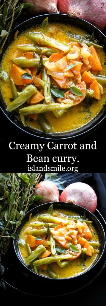 creamy carrot and bean curry-islandsmile.org