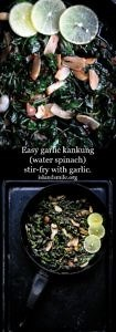 Easy garlic kankung(water spinach)stir-fry with garlic.