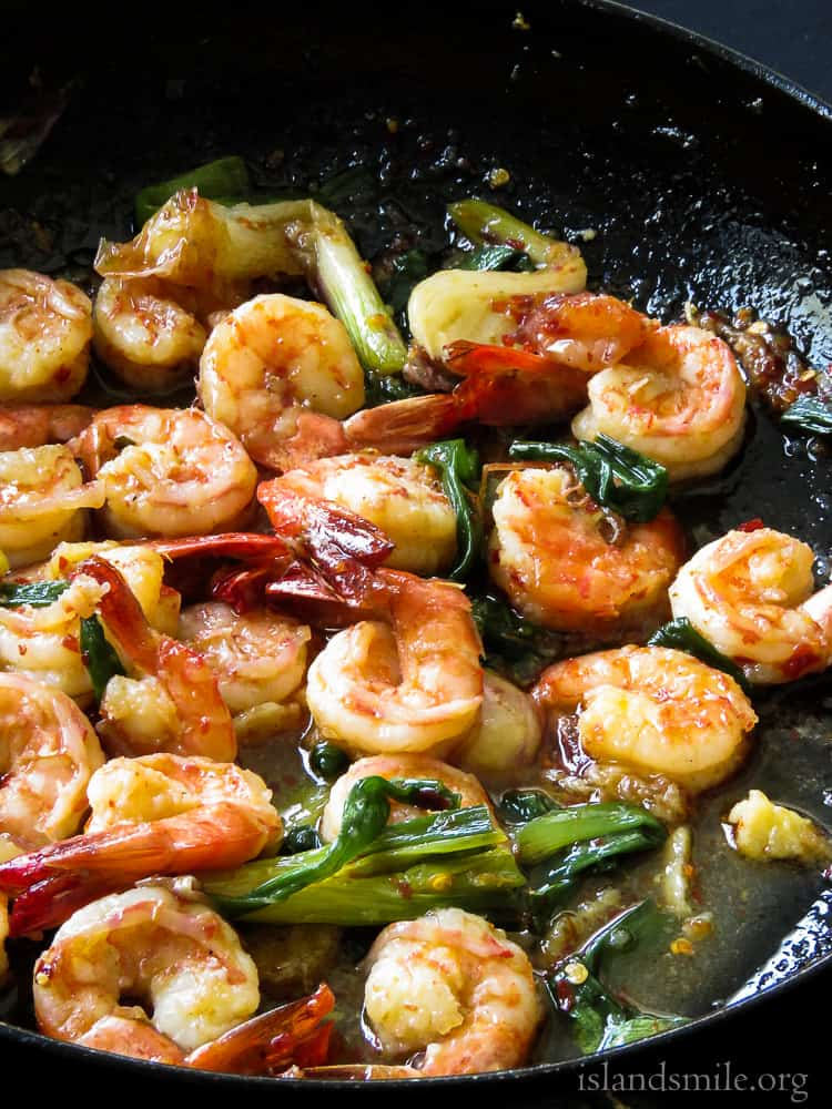 20 minute- caramelized garlic shrimp stir-fry-islandsmile.org