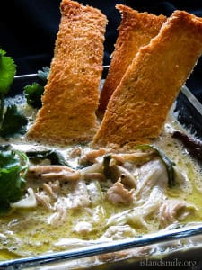 creamy, fragrant chicken soup-islandsmile.org