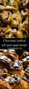 chocolate-stuffed soft pull apart bread.