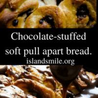chocolate-stuffed soft pull apart bread.