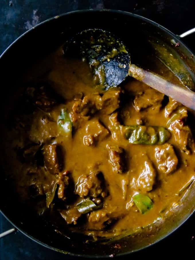 Sri lankan beef curry.