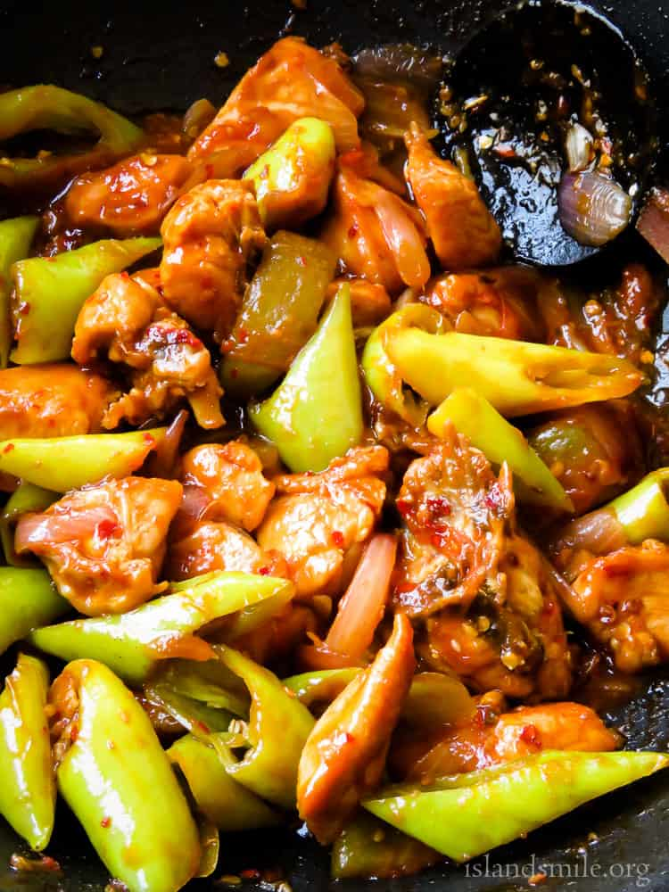 devilled chilli chicken stir-fry