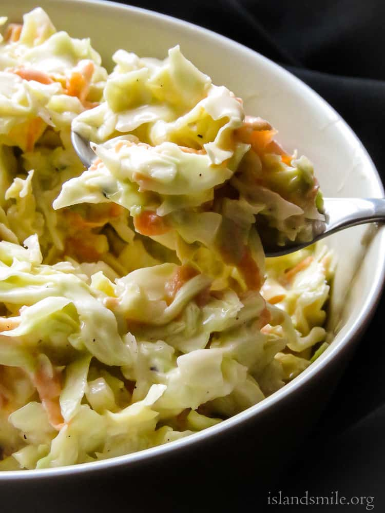 homemade creamy coleslaw salad with mayonnaise.-islandsmile.org