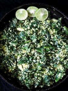 spinach and coconut mallung(no oil stir-fryl)-islandsmile.org