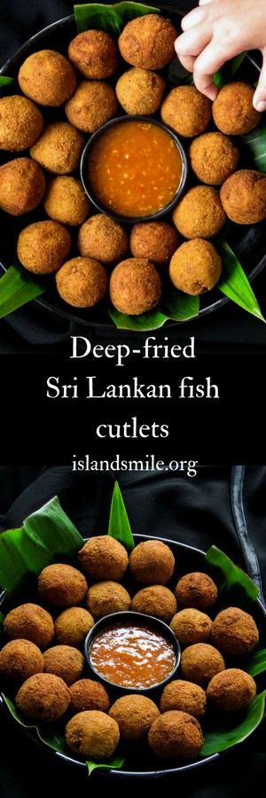 Deep-fried Sri Lankan fish cutlets, a spicy, savoury bite, perfect for any time of the day. your party spread just wouldn't be the same without these appetizers.