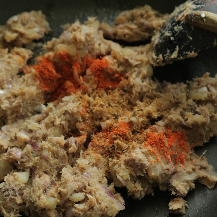 how to cook the fish cutlet mixture to freeze.
