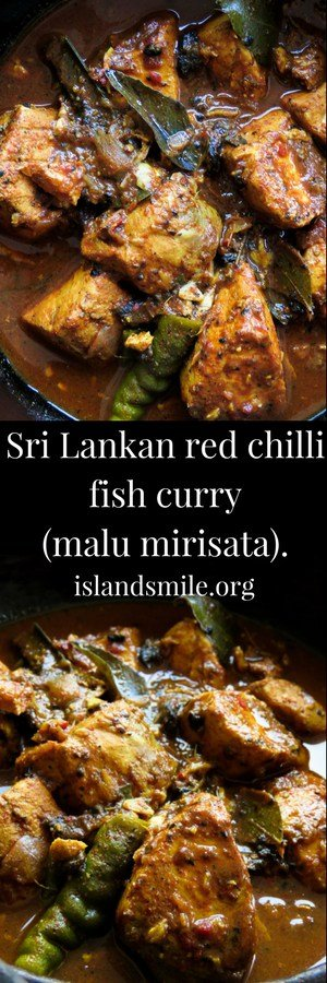 Sri Lankan red chilli fish curry(malu mirisata). fresh fish cooked in Lankan spices and condiments pounded in a mortar and pestle for maximum flavor.#spicy #fish #srilankan #glutenfree #lowcarb #curry #fish
