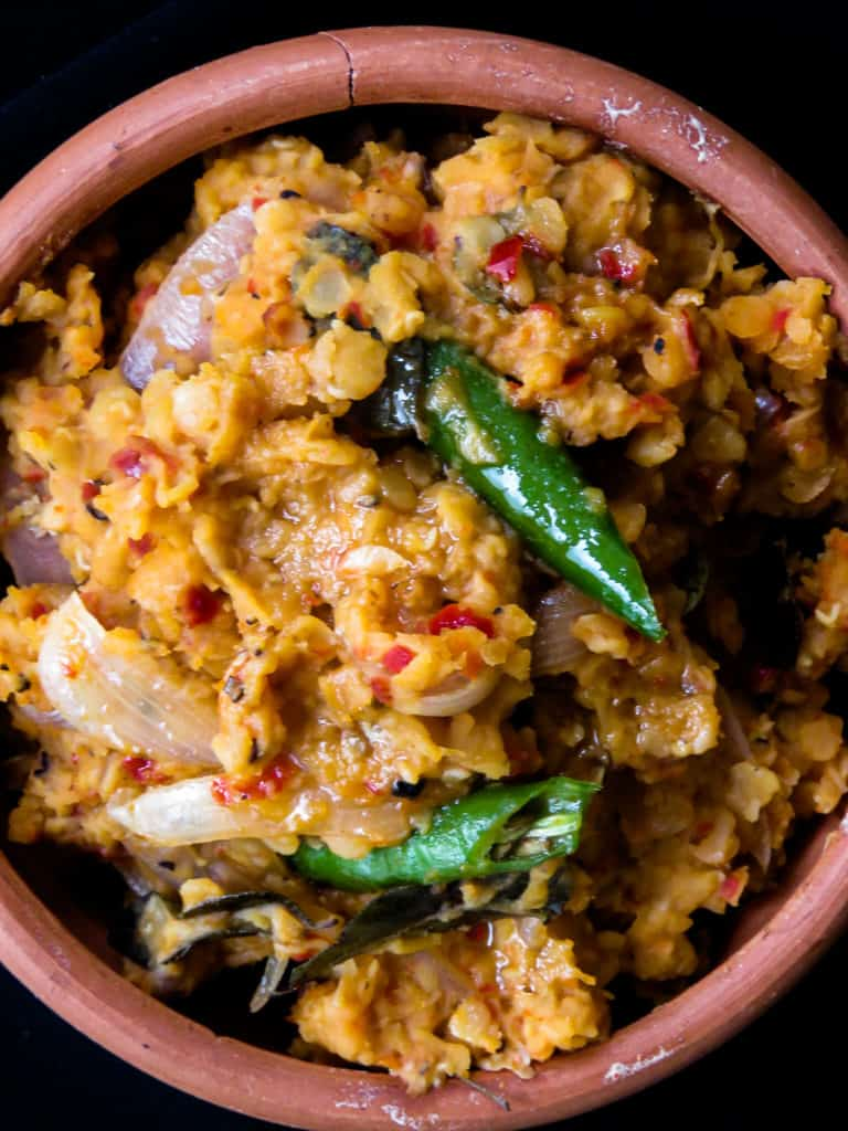Sri Lankan spicy dhal fry, give your dhal curry cooked coconut milk a break, try a spicy version of for a change.-islandsmile.org