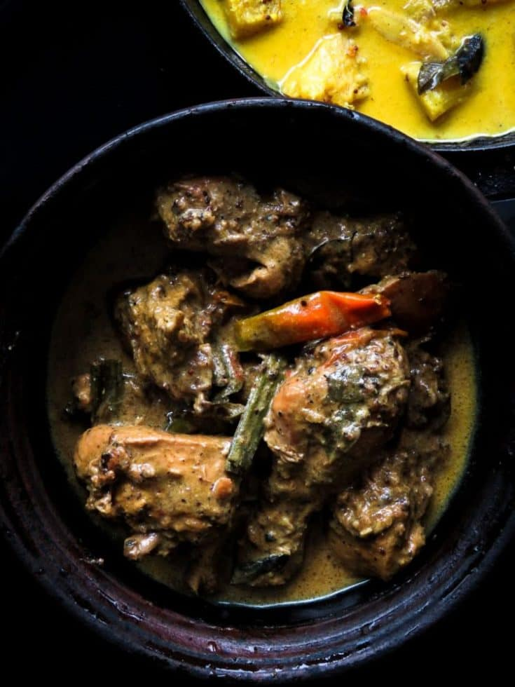 Sri Lankan Black pepper chicken curry.