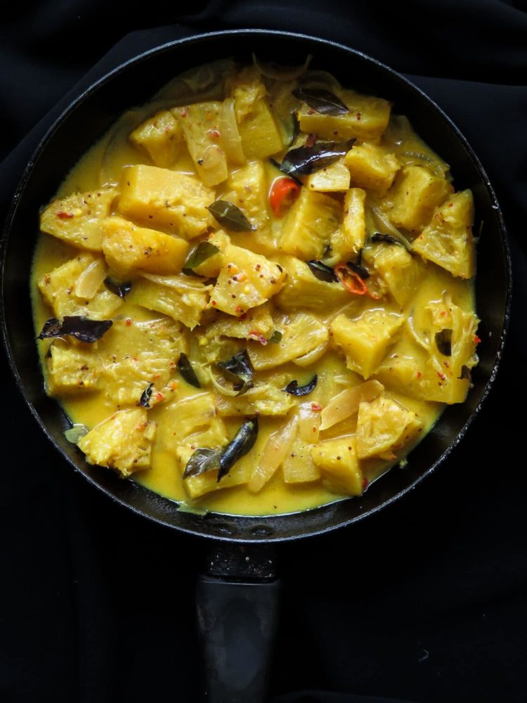 Sri Lankan-mildly spiced pineapple curry. Turn this tropical fruit into a curry with a coconut base. 30 minutes of your time well spent cooking up a tasty dish. the fruit curry fits into all types of diets as well, from vegan, vegetarian, gluten-free to low-carb.