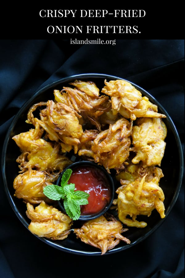 Crispy deep-fried onion fritters- light, crunchy and ideal for any time of the day, serve this savory bites as an appetizer or snack. all you have to do is mix the ingredients in a bowl and start deep-frying.