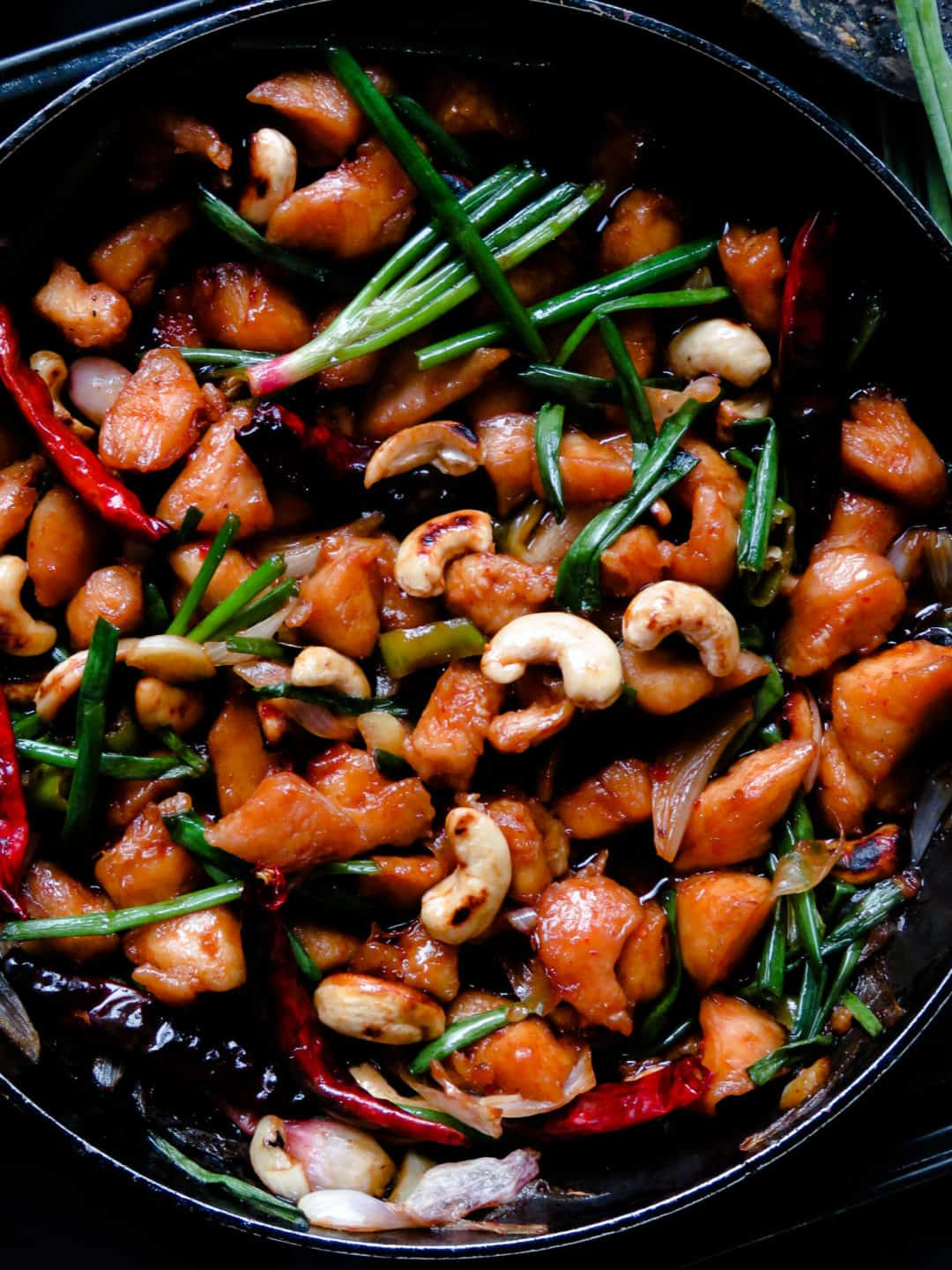 Devilled thaicashew chicken stir-fry- an easy, take-out style skillet dish. the combination of chicken and crunchy cashews in a thick sweet and spicy sauce you can season, adjust to your needs. the stir-fry is great to perk up your meals with its unique flavors-islandsmile.org