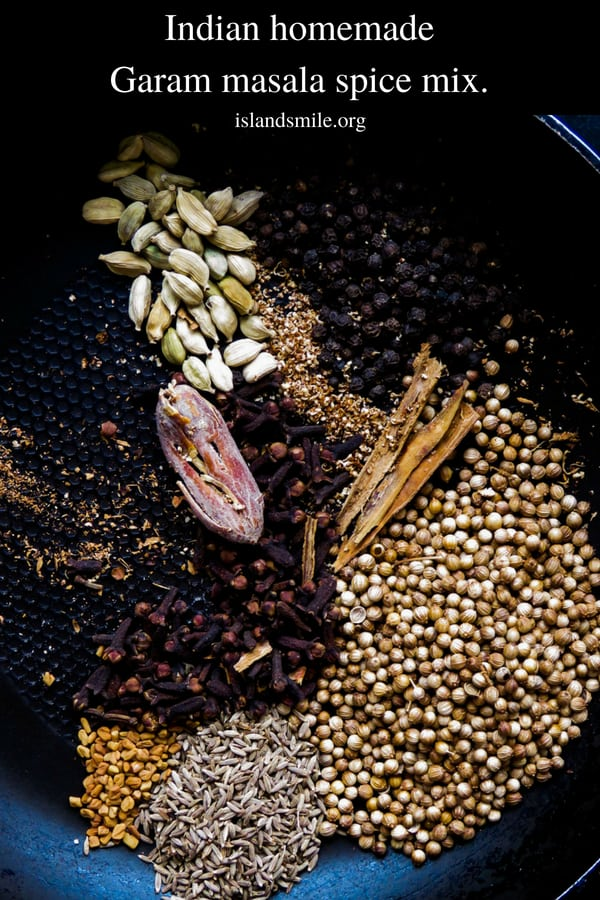 Indian homemade garam masala spice mix- stop using store-bought garam masala powder to cook your favorite Indian dishes, it's time you learned to make your own. it's more aromatic, flavorful, you'll never go back to buying the spice blend again.